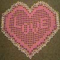 Filet Heart Doily