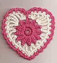 Over 100 Free Valentine's and Heart Crochet Patterns at AllCrafts!