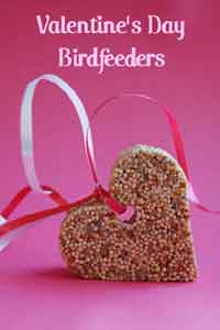 DIY Valentine's Day Bird Feeders