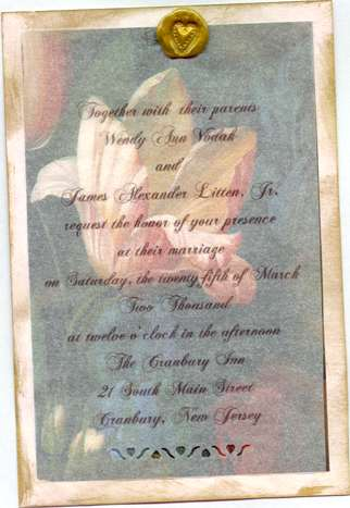 My Wedding Invitation Project At Allcrafts Marvelous Wax Paper