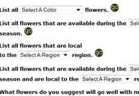 Wedding Flower Database