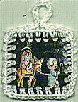 Crochet Christmas Card Ornament Pattern
