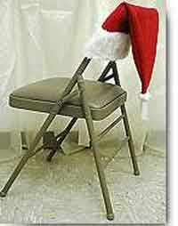 Santa Hat Chair Back