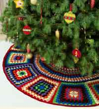 Granny Square Tree Skirt Crochet Pattern