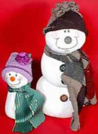 (Almost) No-Sew Sock Snowmen Pattern