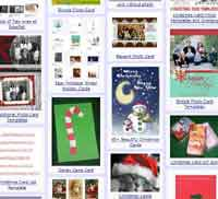 Our New Page of Free Christmas Card Templates