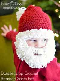 Crochet Santa Beard Hat Pattern