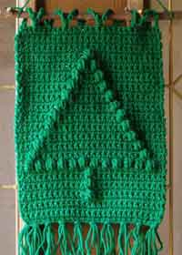 Crochet Christmas Tree Wall Hanging Pattern
