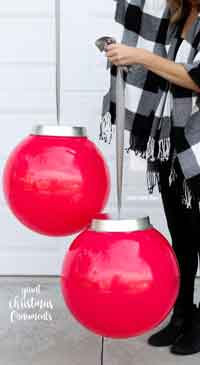 Easy Giant Christmas Ornaments