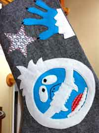 Abominable Snowman Stocking Tutorial