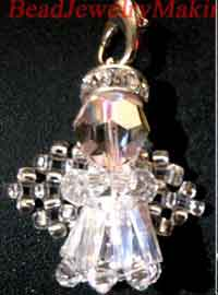 Beaded Angel Charm