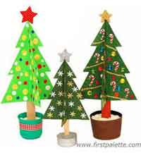 Craft Stick Christmas Tree Kids Craft