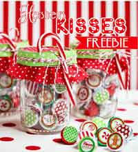 Christmas Hershey?s Kiss Printables