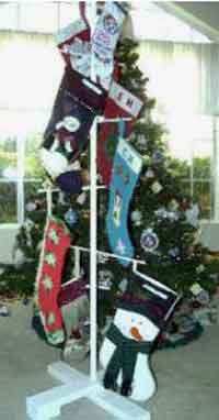 Christmas Stocking Tree Stand
