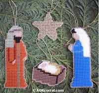 Nativity Christmas Ornaments - plastic canvas