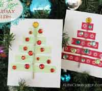 DIY Washi Tape Holiday Cards