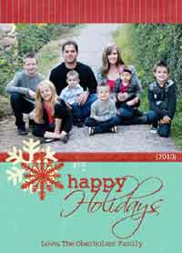 simple photo card templates - Free Photo Christmas Card Templates